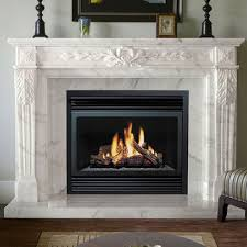 freestanding natural stone fireplace