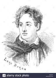 Archive image of historical literary figures. This is Lord Byron Stock  Photo - Alamy