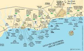 Tourist Corridor Map Cabo San Lucas and San Jose del Cabo