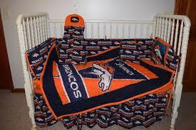 crib bedding m w denver broncos fabric