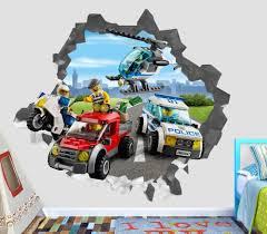 Details about Lego City Police Villain Smashed Wall Decal 3D ...