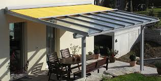 glass roof system sun protection with
