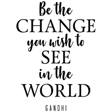 My Vinyl Story Be The Change Gandhi Quote Inspirational Motivational Wall Decal Art For School Living Room Home Office Decor 24x17 Inches Home Kitchen Cjp Org In
