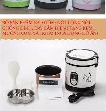 XẢ KHO 3 NGÀY ] Nồi cơm điện đa năng mini KENLY chống dính 5 lớp giúp cơm  không bị cháy và dính đáy nồi, hộp nấu và hâm nóng thức ăn