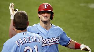 4 Base Error On Ball Over Fence Helps Rangers Top Angels 7 3