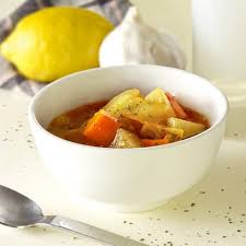 chunky vegetable soup pickled plum
