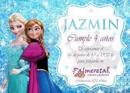 Invitaciones Cumpleanos Personalizadas Frozen Invitaciones