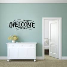 Entryway Welcome Wall Decal Wayfair