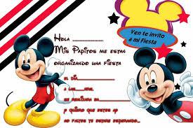 Invitacion Invitaciones De Cumpleanos De Mickey Mouse Tarjetas