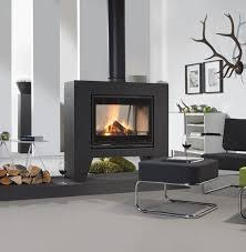 double sided freestanding stove
