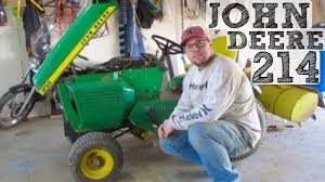 john deere 214 oil change you
