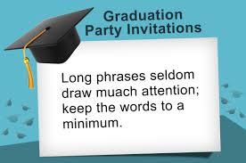 ideas to write the most pleasing graduation invitation wording