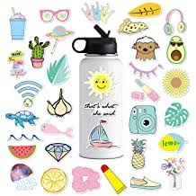 Cute Vsco Stickers For Water Bottles Big 35 Pack Hydro Flask Waterproof Vinyl Stickers Aesthetic Laptop Stickers Luggage Skateboard Guitar Bicycle Iphone Ipad Decals For Teen Girls 35 Pcs Buy Products Online