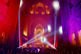 Liverpool Light Night Cathedral interior credit Pete Carr courtesy of Open  Culture - DCMS blog