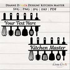 Kitchen Utensil Svg Kitchen Personalized Wall Decal Kitchen Etsy