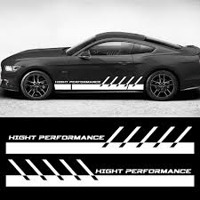 1pair 2pcs Fit For All Cars Decal Sticker Vinyl Side Sport Stripe Kit Graphics Decal Sticker Car Boat Auto Truck 80 Wish