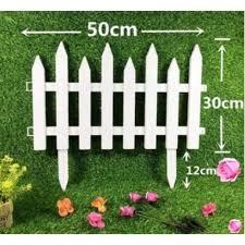 Mini White Picket Fence For Garden 2 Design