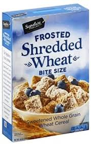 signature select frosted shredded wheat