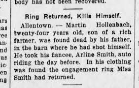 martin hollenbach kills self arline smith july 1914 - Newspapers.com