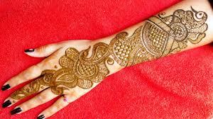 mehndi design back hand latest