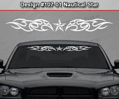 Car Truck Parts Design 116 01 Nautical Star Tribal Flame Windshield Decal Window Sticker Car Car Truck Decals Stickers Moonnepal Com