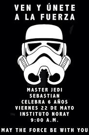 Invitacion Star Wars Invitaciones De Cumpleanos Invitaciones De