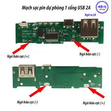 Mạch Sạc Pin Dự Phòng 1 Cổng USB 1A