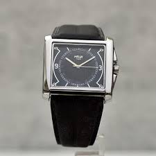 timex leather strap black dial men