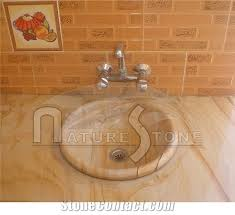 teak wood basin pedestal sink