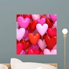 Red And Pink Balloons Wall Decal Wallmonkeys Com