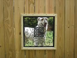 Fence Windows Dog Window In Fence Dog Window Dog Fence