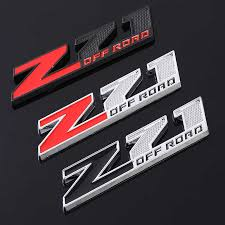 Car Sticker Emblem Chrome Badge Decals For Chevrolet Silverado Chevy Colorado Z71 Off Road 4x4 Sierra Gmc Auto Styling Stickers Car Stickers Aliexpress