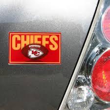 Kansas City Chiefs Football Domed Metal Emblem Car Decal