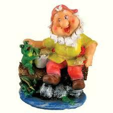 fishing gnome large garden sculpture