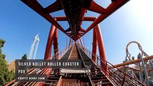 pov silver bullet roller coaster knotts
