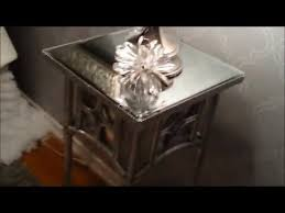 mirror and silver skinny end table diy