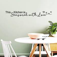 This Kitchen Is Seasoned With Love Wall Decal Vinyl Quotes Wall Stickers Home Wall Sticker Kitchen Decals 27x3 2 Inch Stickers