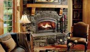 rustic stone fireplace rustic