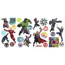 Roommates Classic Avengers Wall Decals Rmk4289scs The Home Depot