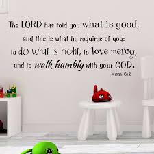 Micah 6v8 Vinyl Wall Decal 7 Do What Is Right Love Mercy Walk Humbly