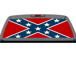 Confederate Flag Plain Southern Rebel Rear Window Decal Truck Suv Perf Perforation Torn Rebel
