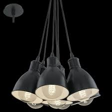 eglo 49467 priddy 7 light ceiling