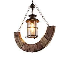 pendant chandelier with hemp rope