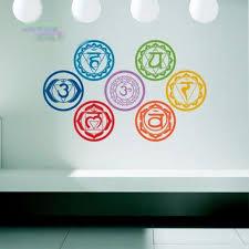 The Seven Chakras Vinyl Wall Stickers Mandala Yoga Om Meditation S Spirituality Because