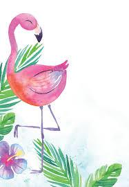 Watercolor Flamingo Birthday Invitation Template Free Hacer
