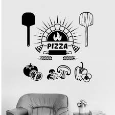 Pizza Sign Window Sticker Kitchen Vinyl Wall Decal Pizza Italian Restaurant Cooking Stickers Art Mural Store Logo M180 Wall Stickers Aliexpress