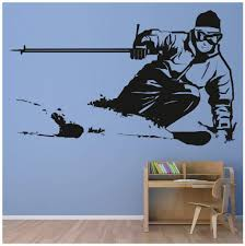 Triathlon Wall Sticker Athletics Wall Decal Art Available In 5 Sizes And 25 Colours X Small