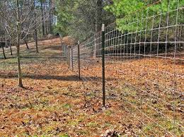 4x4 Red Brand Goat Wire On Metal T Post Goat Fence Farm Fence Backyard Fences