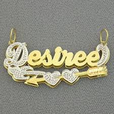 14k gold personalized 3d cupid s arrow