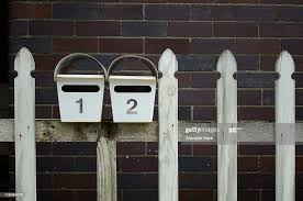 Letter Boxes And Wooden Fence High Res Stock Photo Getty Images